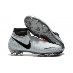Nike Zapatillas Phantom Vision Elite Dynamic Fit FG Gris Rojo