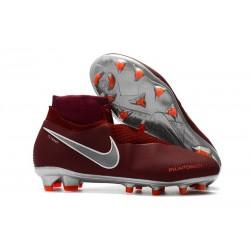 Botas de Fútbol Nike Phantom Vision Elite DF FG Rojo Plata